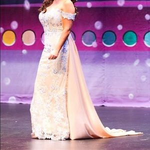 Evening gown with train